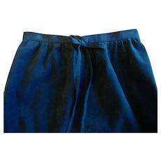 Retro Black UltraSuede A Line Skirt Circa 1970 Size Medium