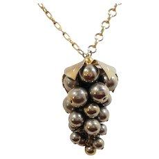 Celebrity Dangle Grape Cluster Pendant Necklace