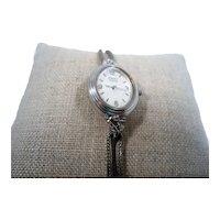 Caravelle by Bulova Silvertone Ladies Wristwatch RGP Speidel Band  Not Working