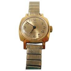 Timex Womens Water Resistant Goldtone Silvertone Metal Wristwatch Not Working