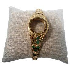 Solid 10K Gold Nugget Style Wristwatch Bracelet