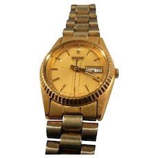 Seiko Quartz Goldtone Silvertone Womens Wristwatch Working