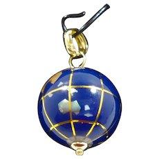 Michael Anthony 14K Gold Genuine Lapis World Globe Pendant  Mint in Box