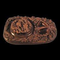Chinese Inkstone Flying Dragon Ink Stone - Nice Crisp Detail