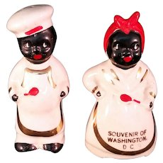 Black Americana Souvenir Salt and Pepper Shaker Set – Washington, DC Vintage