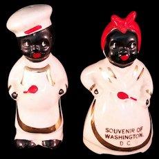 Black Americana Souvenir Salt and Pepper Shaker Set – Washington, DC Vintage