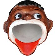 Black Americana Open Mouth Porcelain Ashtray made in Japan c1940