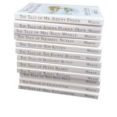 Miniature Peter Rabbit Book Set the World of Beatrix Potter Collection of 12 Little Books 1988