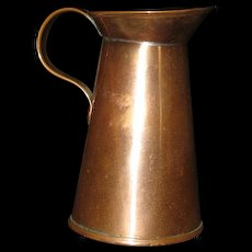 Vintage Small Copper Pitcher Creamer marked 1 Gill