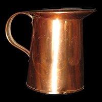 "Small Kreamer Copper Pitcher  4 1/2"" h"