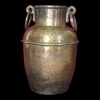 Rare 1920's Arrow Metal NY Handcrafted Spittoon Urn Copper & Brass EUC