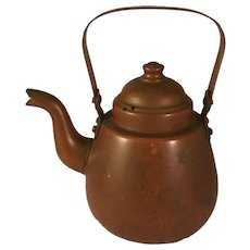Vintage Small Copper OPA Gooseneck Teapot made in Finland