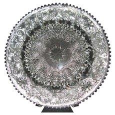 """Vintage Sandwich Line #41 Crystal Glass Deviled Egg 12"""" Plate by Duncan & Miller Glass Co. 1924-1955"""