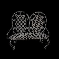 Primitive Hand made Chicken Wire Large Doll Patio love seat Chair c1950's