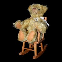 Teddy Bear 100th Anniversary Lee Middleton in Strombecker rocking chair