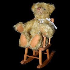 Teddy Bear 100th Anniversary Lee Middleton in Strombecker rocking chair
