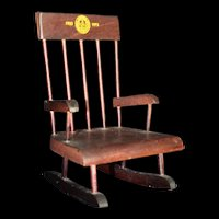 Miniature Commemorative Rocking Chair for Gardner, MA 50th Celebration 1973