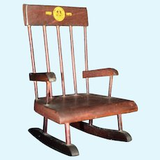 Miniature Commemorative Rocking Chair for Gardner, MA 50th Celebration 1973