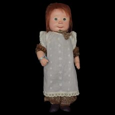 "Dianne Dengel 18"" Standing Country Girl Doll Signed"