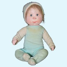 "Dianne Dengel 10"" Bunky Baby Boy Sitting Doll Early Piece"