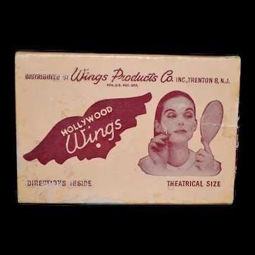 1950's Hollywood Wings Wrinkle Prevention Beauty Aids theatrical Size Trenton, NJ