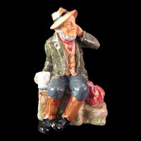 Royal Doulton Owd Willum Figurine -Signed by Painter and Marked  #HN 2042