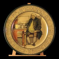 The Dr Johnson The Cheshire Cheese 1776-8L Plate by Royal Doulton Post 1912 - Marked D3123