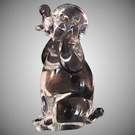 Puppy Dog Murano Art Glass Paperweight Sculpture Signed by Licio Zanetti of Italy