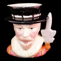 Staffordshire Character Jug Yeoman of the Guard Made in England