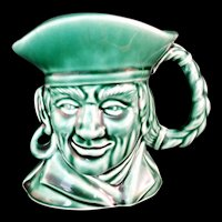 Rockingham Harker Pirate Toby Jug Mug in Green Made in USA #1840