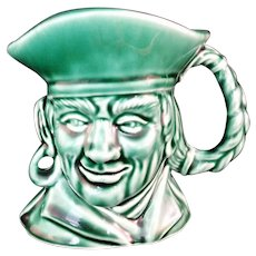 Rockingham Harker Pirate Toby Jug Mug in Green Made in USA #1840