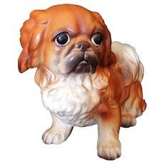 Vintage Josef Originals Pekingese Dog Figurine - tag