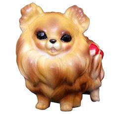 Vintage Josef Originals Pomeranian Dog Figurine - tag