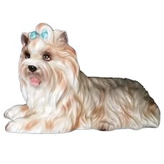 Vintage Josef Originals Yorkshire terrier Dog Figurine - tag