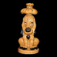Rare Sick Sad Puppy Hound Dog Decanter Hand painted vintage c1960