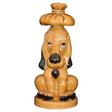 Rare Sick Sad Puppy Hound Dog Decanter Hand painted vintage c1960