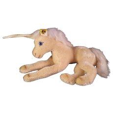 Steiff Unicorn Laying Down 0130/17 W Germany 1983