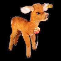 Steiff Bocky Doe standing Deer 1811/21 Mohair c1974