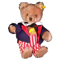 Steiff Original Teddy in Yankee Doodle outfit 0202/26  tags