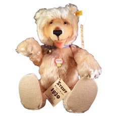 Steiff Teddy Baby Bear Blonde 1930 Replica with all tags