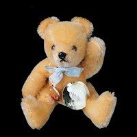 """Orange Mohair 5"""" Jointed Hermann Teddy Original – Brown Tag  c1985"""