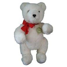 "Rare White 14"" Hermann Teddy Original Polar Bear Fully Jointed growler with tags"