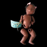 "Black Porcelain 5"" Baby Doll parts by Gill"