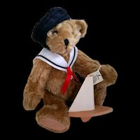 Fully Jointed Mohair Sailor Bear John Paul by Kathi Clarke, American Artist