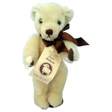 "Vintage Blonde 11"" Mohair Merrythought Bear Signed and #'s Limited Edition England."