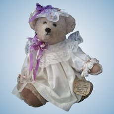 Violet Artist Teddy Bear Mary D. Olsen limited Edition #29 Signed w tags Graham Gridley Bear C.