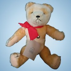 Rare Original Grisly Teddy Peach Mohair Jointed Growler Reproduction 529/1000 by Grisly Speilwaren