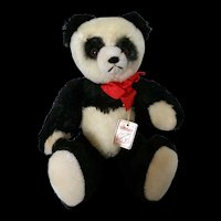 "Grisly Panda 11"" Stuffed Bear – 100% Mohair, fully jointed c1970"