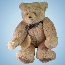 "Artist made plush bear 18"" Vanilla by Catherine Bordi 1985"