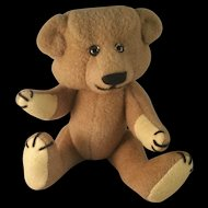 "Artist made Mohair Teddy Bear 12"" fully jointed by Lois Beck 1986"